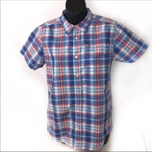Tommy Hilfiger plaid short sleeve Button down